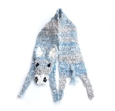 "Donkey scarf For baby Handmade soft Crochet scarf Animal scarf Grey yarn Children scarf For kid Winter gift Neck warmer Xmas gift   Very soft, nice and friendly small burro — made by myself. It is made of grey-white-blue yarn, without any plastic or glass details - you dont need to bother about your child safety. Perfect winter gift!   Length: with legs and tail: 40 (103 cm), without head, legs and tail (only ""body""): 31.5 (80 cm) Width: 4.3 (11.5 cm)   Handmade with love in a smoke-free…"
