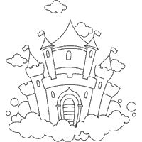 Castle Clipart - Illustration by BNP Design Studio Disney Castle Logo, Disney Castle Drawing, Free Clipart Images, Royalty Free Clipart, Colouring Pages, Coloring Books, Castle Coloring Page, Castle Clipart, Illustration Noel