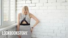Pretty Valery Dolgova in @lookbookstoreco striped cutout bodycon dress. Get it here. | Lookbook Store Fashion in Action #LBSMovingFashion