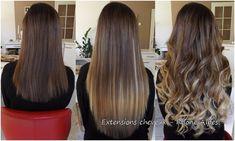 Extensions de cheveux Extiff, pose à froid 50cm, 150 mèches (100 mèches couleur 8 et 50 mèches couleur 24).