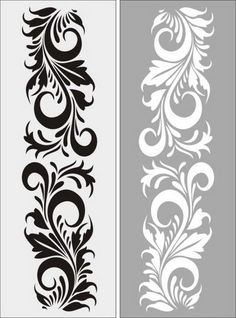 Laser Cut Stencils, Stencil Templates, Stencil Patterns, Tangle Patterns, Stencil Designs, Rangoli Borders, Rangoli Border Designs, Stencil Painting, Fabric Painting