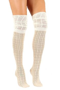 315767b69c9 Girly Women s Thigh High Woven Knit Socks Knit Socks