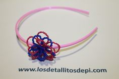 Diadema rosa y azul
