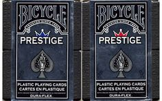 Bicycle prestige plastic playing cards. #playingcards #poker #games