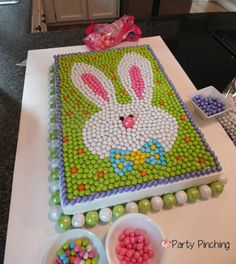 Party Planning - Party Ideas - Cute Food - Holiday Ideas -Tablescapes - Special Occasions And Events - Party Pinching - Easter Bunny Cake