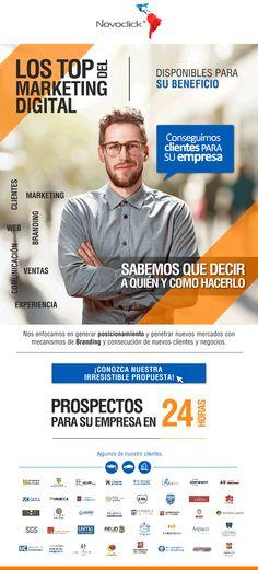 #NOVOCLICK #Marketing Digital #ConseguimosClientesParaSuEmpresa Branding, Marketing, Baseball Cards, Digital, Proposal, Brand Management, Identity Branding