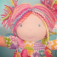 Bamboletta doll using Riley Blake Hexi fabric #rileyblake #hexi