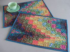 Bargello Needlepoint Patterns | Quilted Bargello placemats class project.