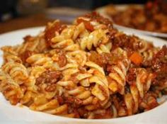 """Amazing Bolognese...my mother made this and called it """"American Chop Suey""""...her NE recipe was much simpler than this, but this looks amazing so I am anxious to try it! XOX"""