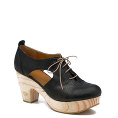 "Takao Black  Kent Black REALLY want these gorgeous shoes  A great new clog style for Coclico. Takao is a lace up, oxford style clog with side cut outs and a 1 ¼ "" platform. Whole sizes only. Made in Spain."