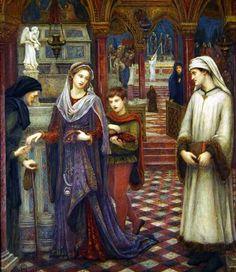Dante and Beatrice by Marie Spartali Stillman, 1880
