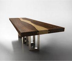 Walnut Wood Table by IL Pezzo Mancante - Luxury Wood Table Design | Aya Furniture