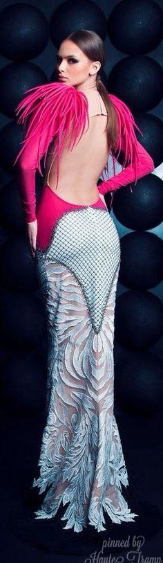 Nicholas Jebran Haute Couture Gown ~Latest Trendy Luxurious Women's Fashion - Haute Couture - dresses, jackets, bags, jewelry, shoes etc.