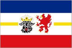 Mecklenburg-Western Pomerania ([Mecklenburg-Vorpommern]) State Flag