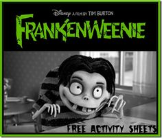 FREE: Frankenweenie Family Activity Sheets