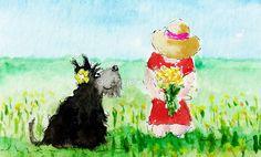 Picking Wild Flowers With Scottie by archyscottie
