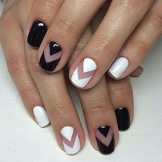 Elegant Black And White Nail Art Designs You Need To Try; Elegant Black And White Nail Art Designs; Elegant Black And White Nail; Black And White Nail; Black And White Nail Art Designs; White Nail Designs, Nail Art Designs, Nails Design, French Manicure Designs, Salon Design, Beauty Nail, Negative Space Nails, Nail Polish, Nail Nail