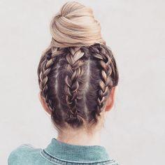 Upside down braids