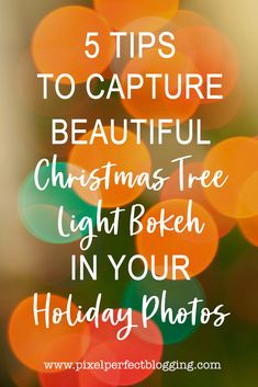 Are you ready to increase your photography skills this holiday season? Click here to see 5 tips to capture beautiful Christmas tree light bokeh this year. Photography Hacks, Photography Tips For Beginners, Photography Tutorials, Christmas Photography, Winter Photography, Low Aperture, Blurry Lights, Beautiful Christmas Trees, Take Better Photos