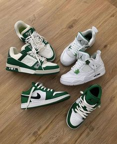 Dr Shoes, Swag Shoes, Nike Air Shoes, Hype Shoes, Me Too Shoes, Sneakers Nike, Green Nike Shoes, Green Sneakers, Jordan Shoes Girls