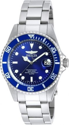 8bc37aaa887 Invicta Men s Coin Edge Bezel Black Dial Pro Diver Watch (aka Invicta Pro  Diver men s dive watch features a wide and thick solid