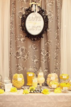 party favor candy table