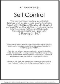 Character Study - Self Control
