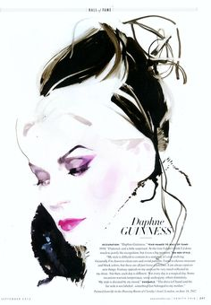 Daphne Guinness illustration by David Downton, in Vanity Fair, Sept 2012 issue.