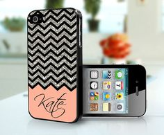 Glitter Chevron phone case + your name on it! LOVE