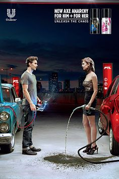 Axe New Axe Anarchy - Petrol Station Creative Advertising, Ads Creative, Advertising Poster, Advertising Campaign, Advertising Design, Marketing And Advertising, Funny Advertising, Advertising Industry, Funny Commercials
