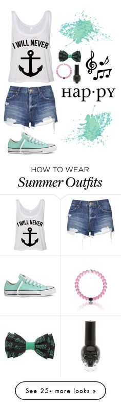 """""""Refuse to sink"""" by emzing-horton on Polyvore featuring Topshop, Converse, ELSE, women's clothing, women's fashion, women, female, woman, misses and juniors"""