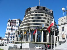 Wellington, NZ  Beehive! This was the old parliament building. Another was built next door to it.