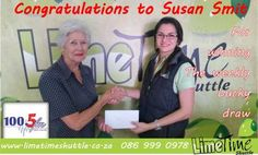 Congratulations to Susan Smit for winning the weekly lucky draw on Radio Laeveld !! #radiolaeveld #luckydraw - Limetime Blog