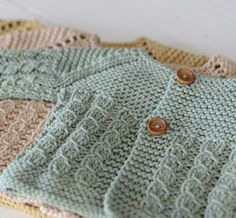 Cable baby sweater