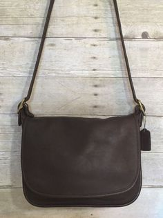 924762d4db60 Vintage Coach Patricias Legacy Brown Leather Saddle Bag Crossbody Handbag  9951    Coach  Crossbody · Leather Saddle BagsVintage CoachVintage HandbagsCross  ...