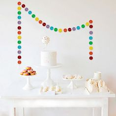 3.4m Rainbow Circle Garland Party Background Decoration Wedding Anniversary Bridal Shower Party Wall Hanging Garlands Supplies-in Event & Party Supplies from Home & Garden on Aliexpress.com | Alibaba Group