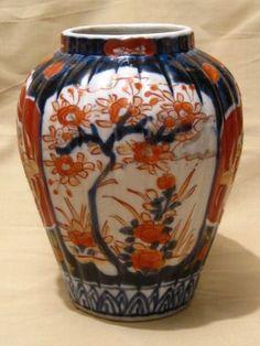 Antique Late 19th Century Japanese Imari Porcelain Vase 5.  5