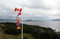 Sempahore flags at Lobster Cove Head in Gros Morne National Park, Newfoundland, photograph by Heather Horton