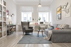 Bright and spacious two-bedroom apartment in Saint-Petersburg