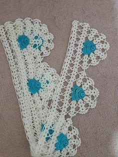 Crochet Edging Patterns, Crochet Borders, Crochet Chart, Crochet Trim, Love Crochet, Beautiful Crochet, Diy Crochet, Crochet Designs, Crochet Flowers