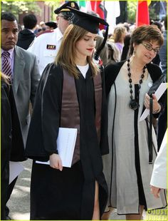 Emma Watson is joined by her family and friends, including her mom, as she becomes an official Brown University graduate on Sunday afternoon (May 25) in Providence, R.I.