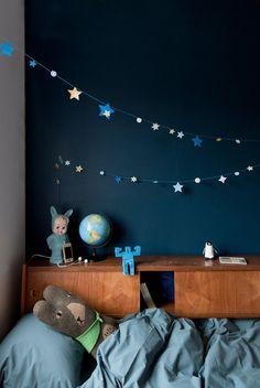 pour mes jolis mômes, mais pas que...: Inspirations kids' rooms : bleu nuit