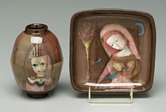 Two Pieces Polia Pillin Pottery