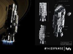 The Expanse: ship sketches.