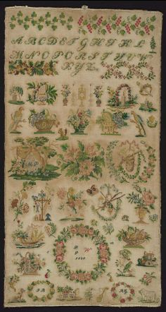 A 19th Century German Biedermeier Sampler Dated 1838