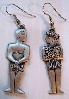 Jonette Jewelry Vintage Adam & Eve Earrings by SideEffectsNY, $25.00