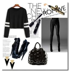 """Romwe-shirt"" by fatmafatma123 ❤ liked on Polyvore featuring Yves Saint Laurent"