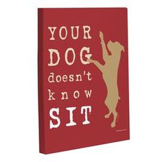 Dog-inspired gicl�e print canvas art in a red, white, and tan palette. Comes ready to hang.  Product: Wall artConstruction Material: CanvasColor: Red, tan and whiteFeatures: Ready to hang Cleaning and Care: Wipe with a damp cloth