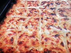 Τα ταξίδια μου : Ζεματιστή Τυρόπιτα ή Προβιόρα Greek Pita, Appetisers, Pizza, Cheese, Fruit, Cooking, Sweet, Recipes, Tarts