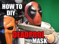 DeadPool how to DiY mask Helmet Cosplay Costume - YouTube